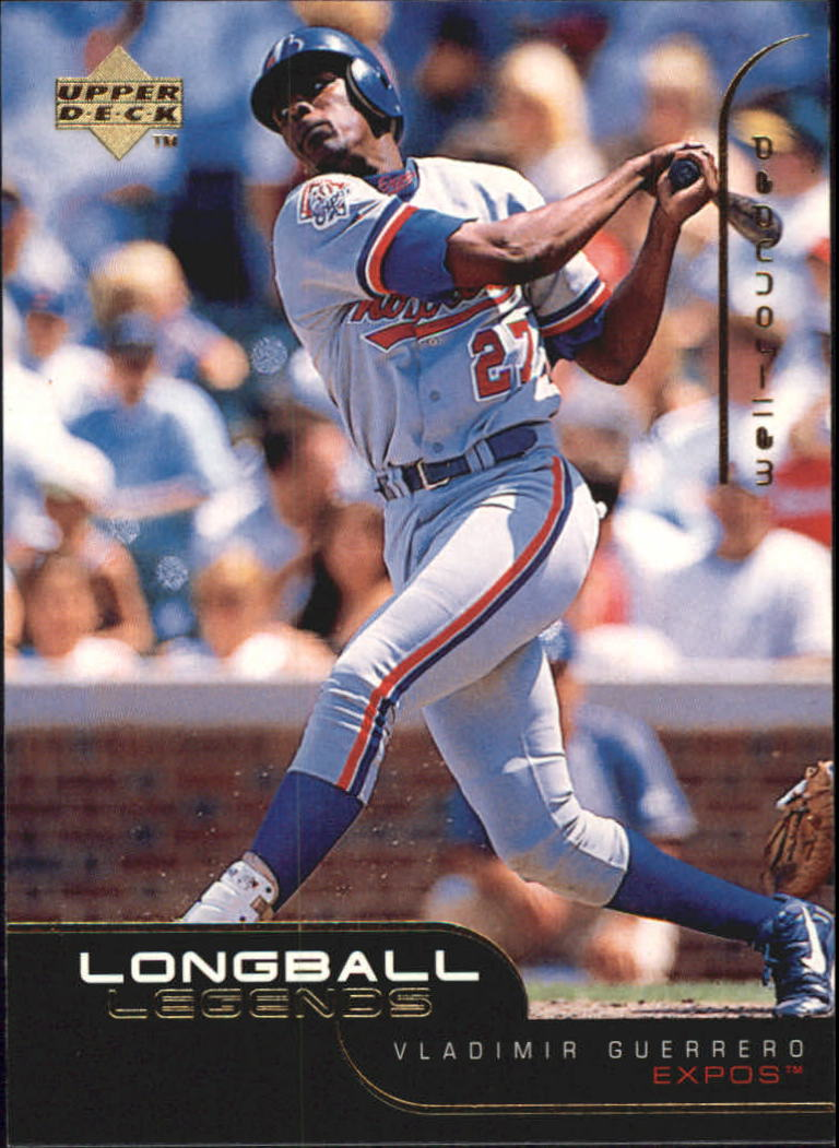 1999 Upper Deck Challengers for 70 Longball Legends #L15 Vladimir Guerrero