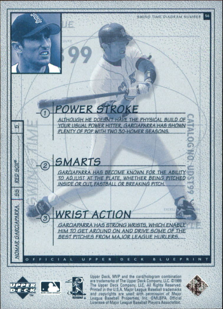 1999 Upper Deck MVP Swing Time #S6 Nomar Garciaparra back image