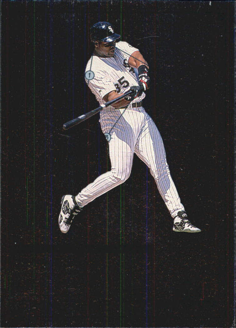 1999 Upper Deck MVP Swing Time #S8 Frank Thomas front image