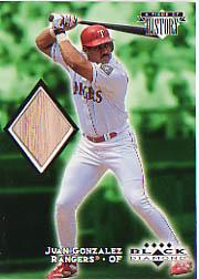 1999 Black Diamond A Piece of History #JG Juan Gonzalez