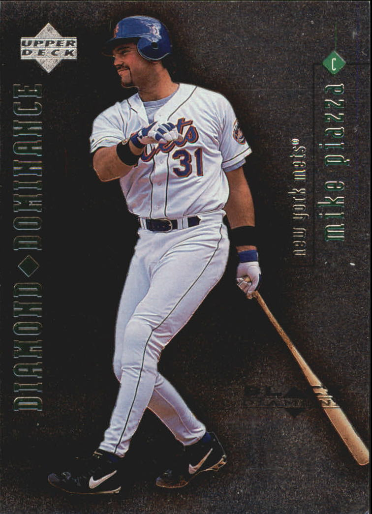 1999 Black Diamond Dominance #D13 Mike Piazza