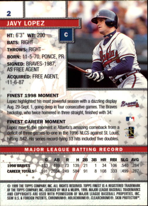1999-Finest-Baseball-1-279-Finish-Your-Set-GOTBASEBALLCARDS thumbnail 5