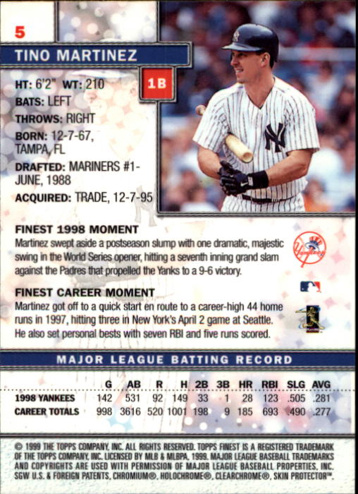 1999-Finest-Baseball-1-279-Finish-Your-Set-GOTBASEBALLCARDS thumbnail 11