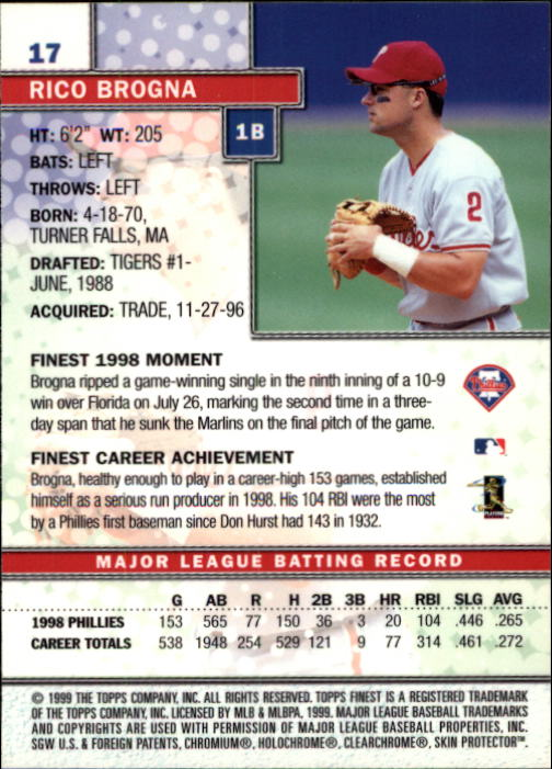 1999-Finest-Baseball-1-279-Finish-Your-Set-GOTBASEBALLCARDS thumbnail 35