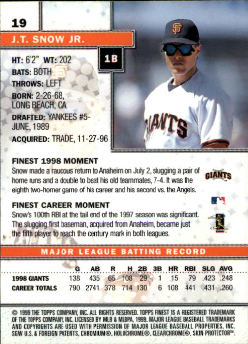 1999-Finest-Baseball-1-279-Finish-Your-Set-GOTBASEBALLCARDS thumbnail 39
