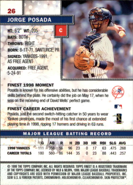 1999-Finest-Baseball-1-279-Finish-Your-Set-GOTBASEBALLCARDS thumbnail 53