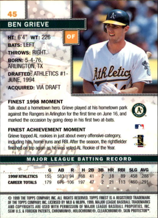 1999-Finest-Baseball-1-279-Finish-Your-Set-GOTBASEBALLCARDS thumbnail 91