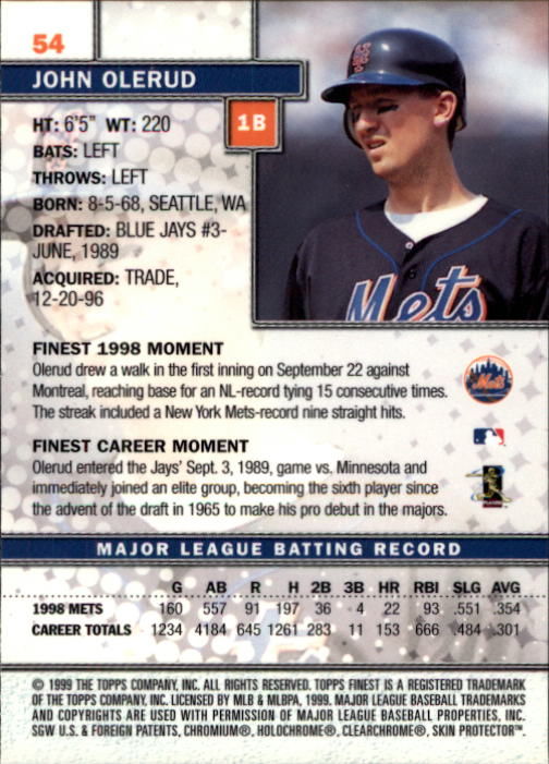 1999-Finest-Baseball-1-279-Finish-Your-Set-GOTBASEBALLCARDS thumbnail 109