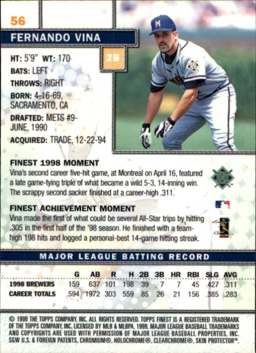 1999-Finest-Baseball-1-279-Finish-Your-Set-GOTBASEBALLCARDS thumbnail 113