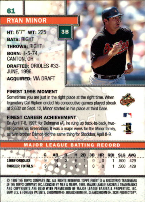 1999-Finest-Baseball-1-279-Finish-Your-Set-GOTBASEBALLCARDS thumbnail 123
