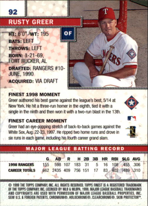 1999-Finest-Baseball-1-279-Finish-Your-Set-GOTBASEBALLCARDS thumbnail 183