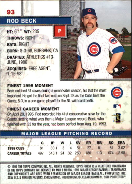 1999-Finest-Baseball-1-279-Finish-Your-Set-GOTBASEBALLCARDS thumbnail 185