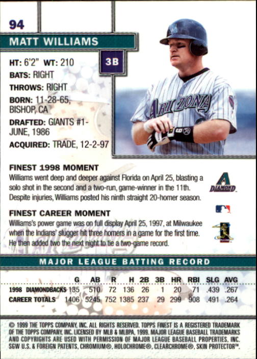 1999-Finest-Baseball-1-279-Finish-Your-Set-GOTBASEBALLCARDS thumbnail 187