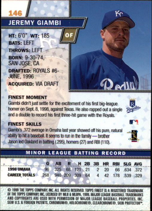 1999-Finest-Baseball-1-279-Finish-Your-Set-GOTBASEBALLCARDS thumbnail 248