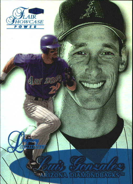 1999 Flair Showcase Legacy Collection Row 3 #122 Luis Gonzalez