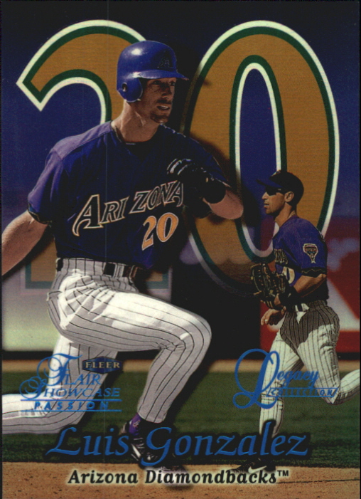 1999 Flair Showcase Legacy Collection Row 2 #122 Luis Gonzalez