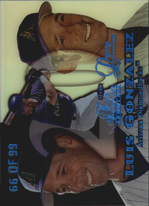 1999 Flair Showcase Legacy Collection Row 1 #122 Luis Gonzalez