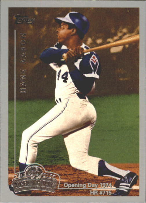 1999 Topps Opening Day #1 Hank Aaron