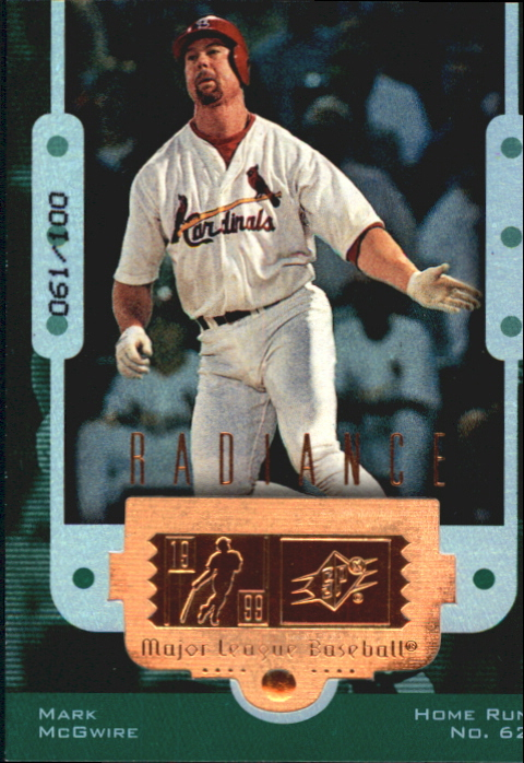 1999 SPx Finite Radiance #2 Mark McGwire 62