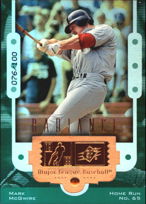1999 SPx Finite Radiance #5 Mark McGwire 65