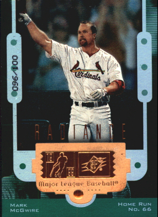 1999 SPx Finite Radiance #6 Mark McGwire 66