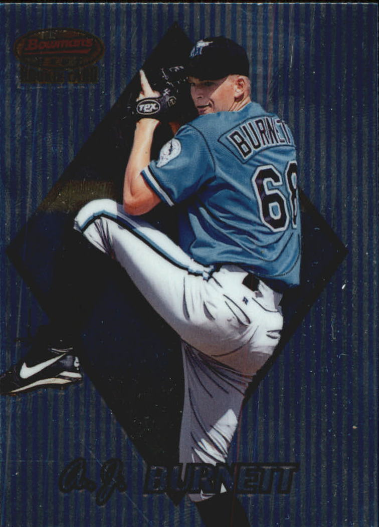 1999 Bowman's Best #155 A.J. Burnett RC