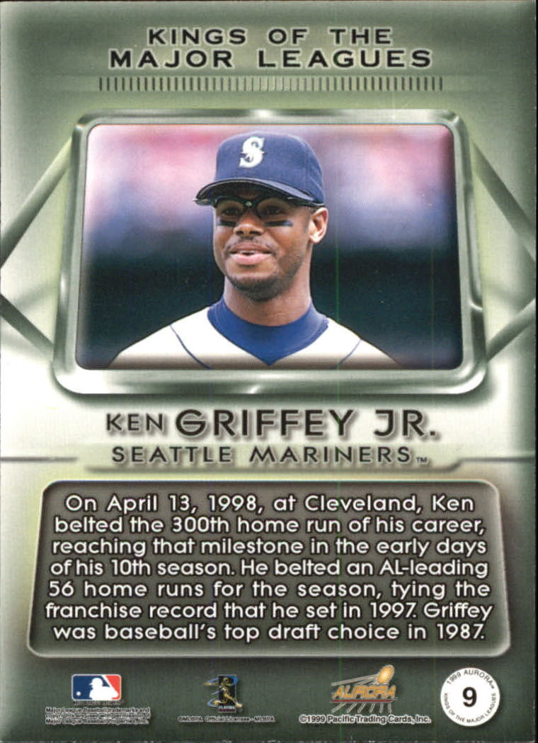 1999 Aurora Kings of the Major Leagues #9 Ken Griffey Jr. back image