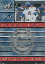 1999 Aurora On Deck Laser-Cuts #4 Sammy Sosa