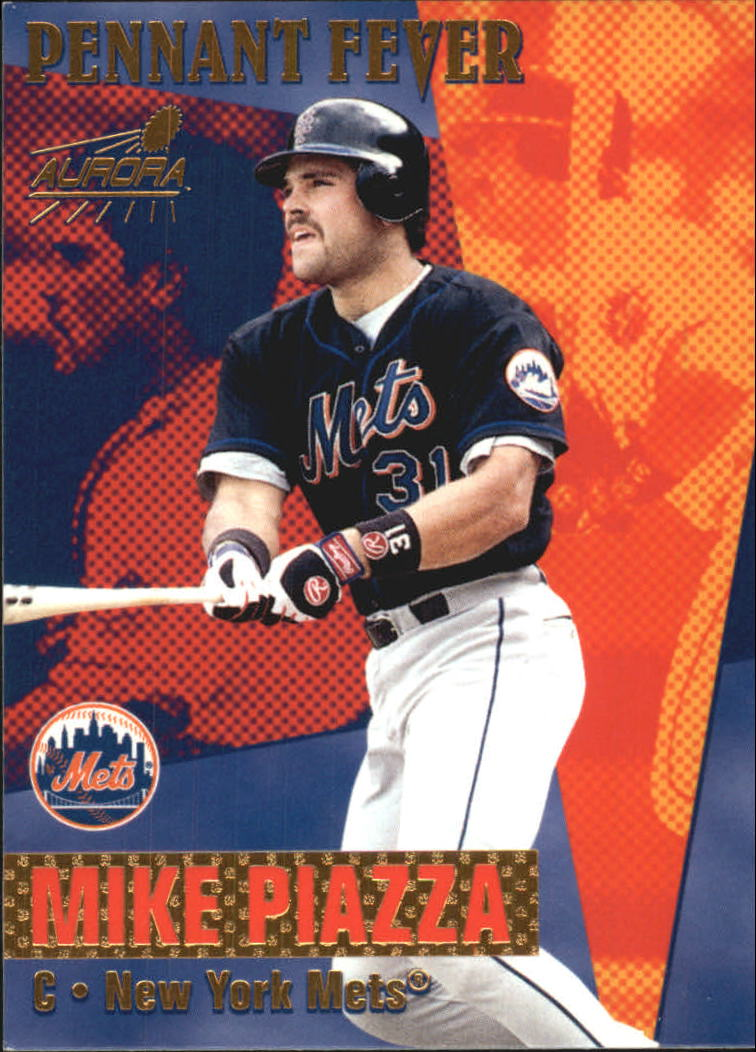 1999 Aurora Pennant Fever #11 Mike Piazza