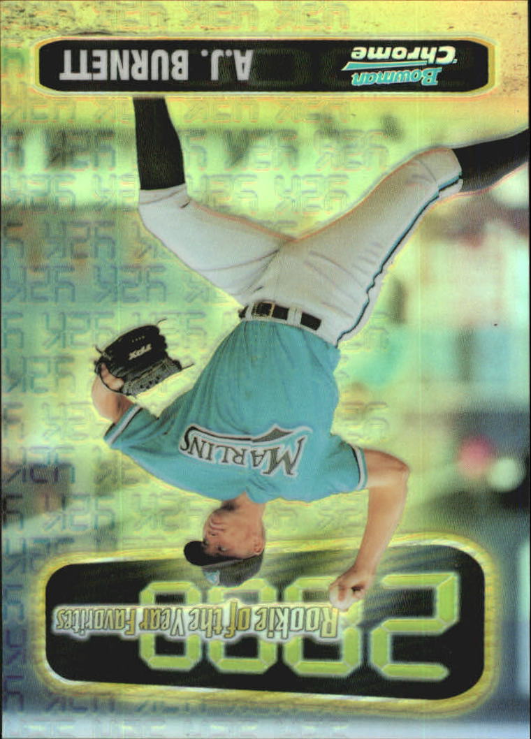 1999 Bowman Chrome 2000 ROY Favorites Refractors #ROY3 A.J. Burnett