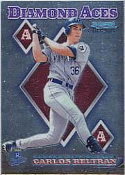 1999 Bowman Chrome Diamond Aces #DA6 Carlos Beltran