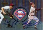 1999 Bowman's Best Franchise Favorites Autographs #FR2C Scott Rolen/Mike Schmidt