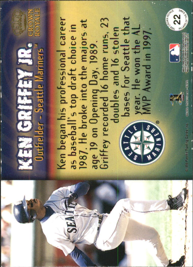 1999 Crown Royale Pillars of the Game #22 Ken Griffey Jr. back image