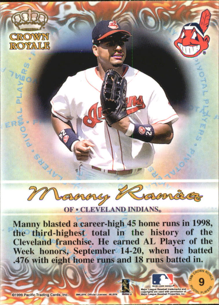 1999 Crown Royale Pivotal Players #9 Manny Ramirez back image