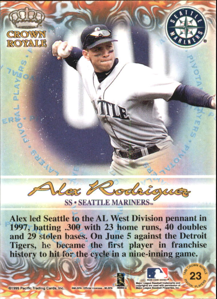 1999 Crown Royale Pivotal Players #23 Alex Rodriguez back image