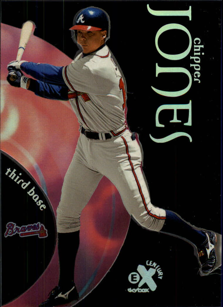 1999 E-X Century #8 Chipper Jones