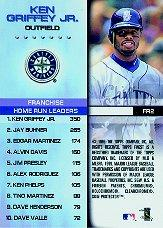 1999 Finest Franchise Records #FR2 Ken Griffey Jr. back image