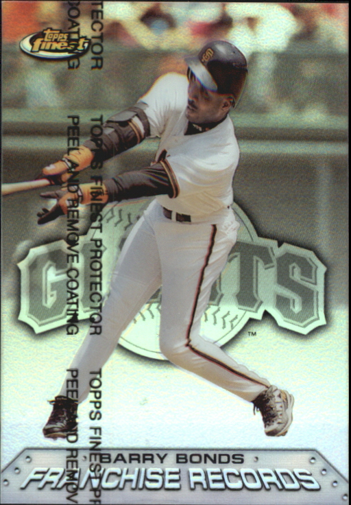 1999 Finest Franchise Records Refractors #FR9 Barry Bonds