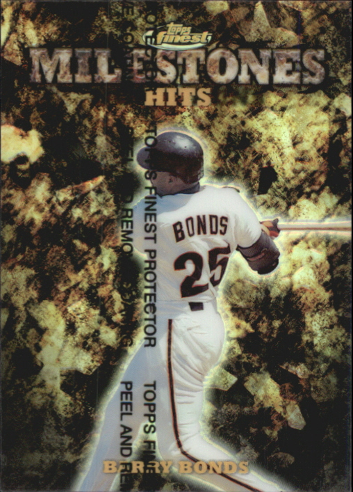 1999 Finest Milestones #M6 Barry Bonds HIT