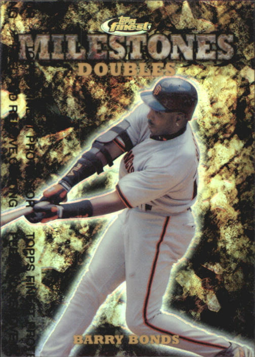 1999 Finest Milestones #M31 Barry Bonds 2B front image