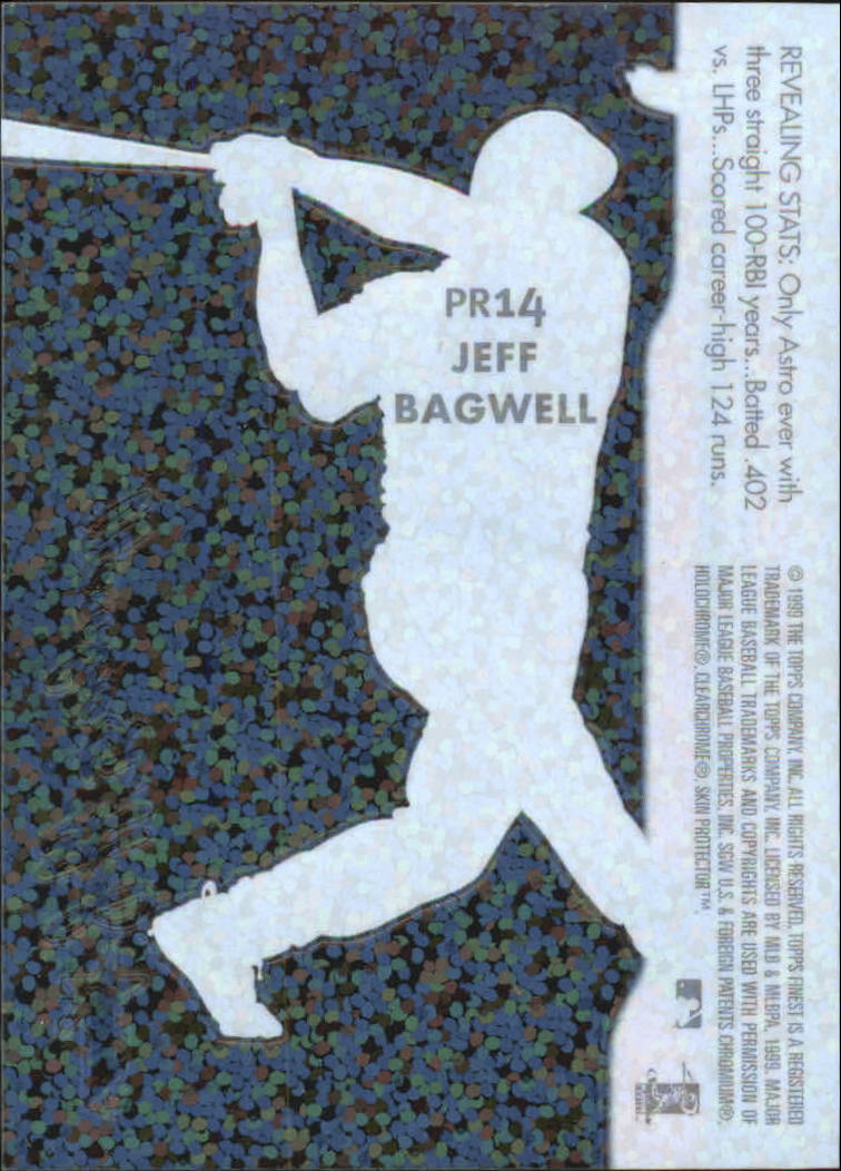 1999 Finest Peel and Reveal Sparkle #14 Jeff Bagwell back image