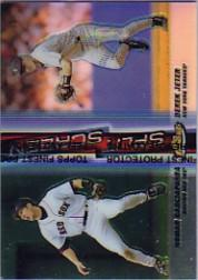 1999 Finest Split Screen Single Refractors #SS3A Nomar Garciaparra REF/Derek Jeter