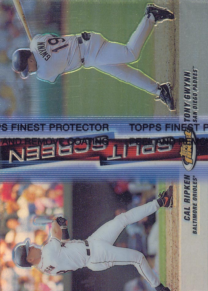 1999 Finest Split Screen Single Refractors #SS5A Call Ripken REF/Tony Gwynn