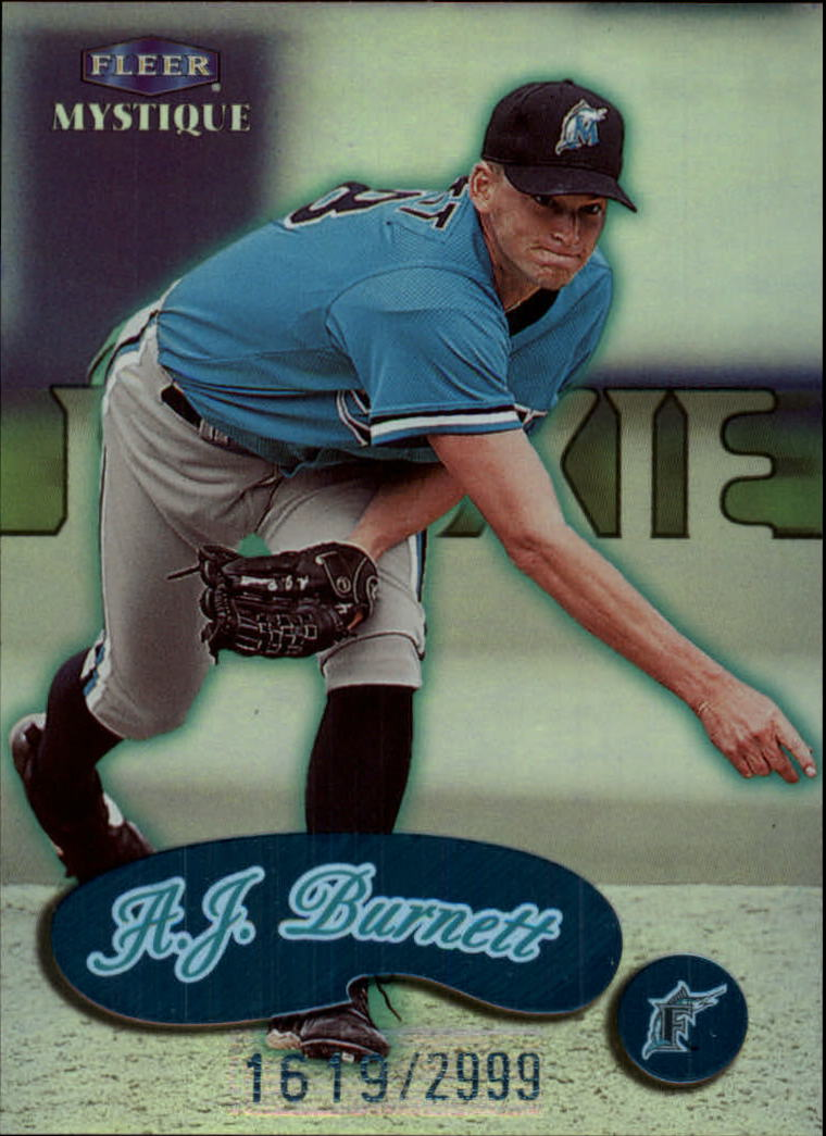 1999 Fleer Mystique #110 A.J. Burnett PROS RC