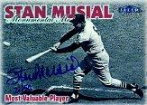 1999 Fleer Tradition Stan Musial Monumental Moments Autographs #8 Stan Musial