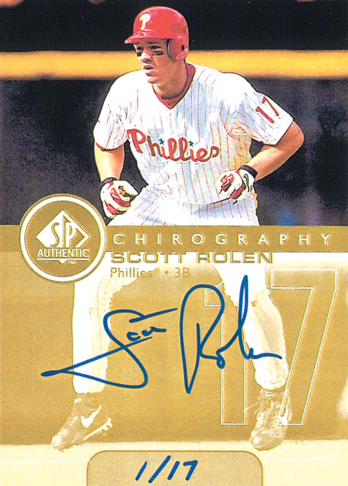 1999 SP Authentic Chirography Gold #SR Scott Rolen/17