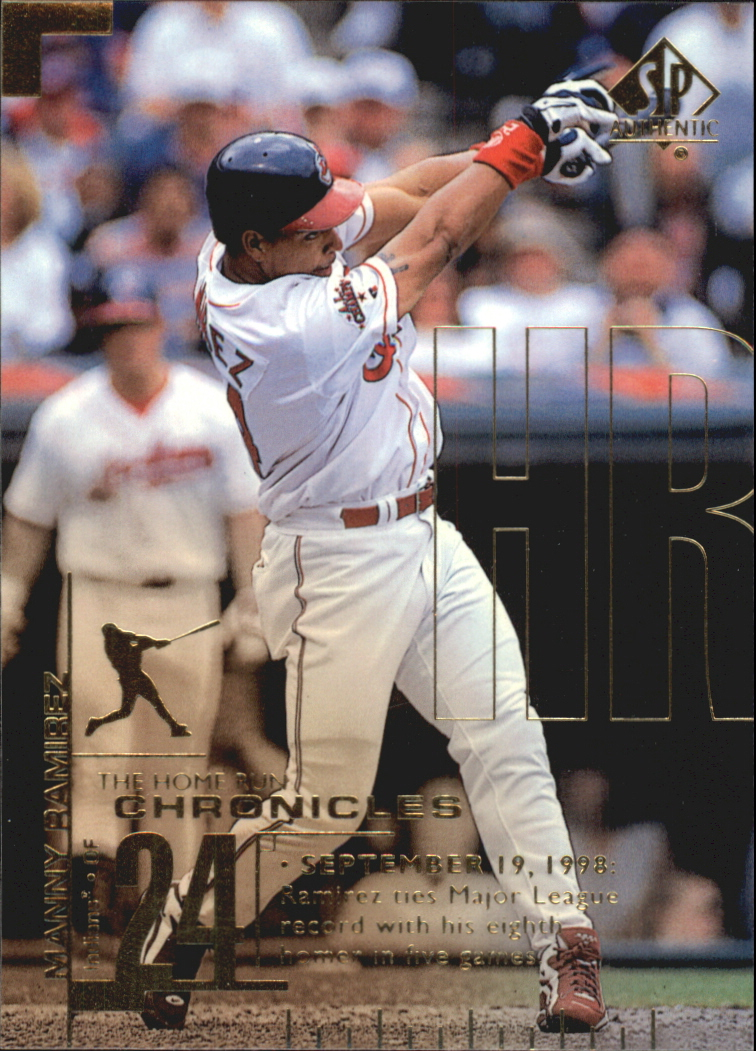 1999 SP Authentic Home Run Chronicles #HR9 Manny Ramirez