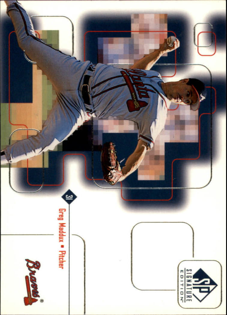 1999 SP Signature #7 Greg Maddux