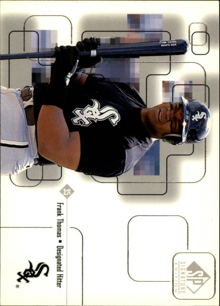 1999 SP Signature #9 Frank Thomas