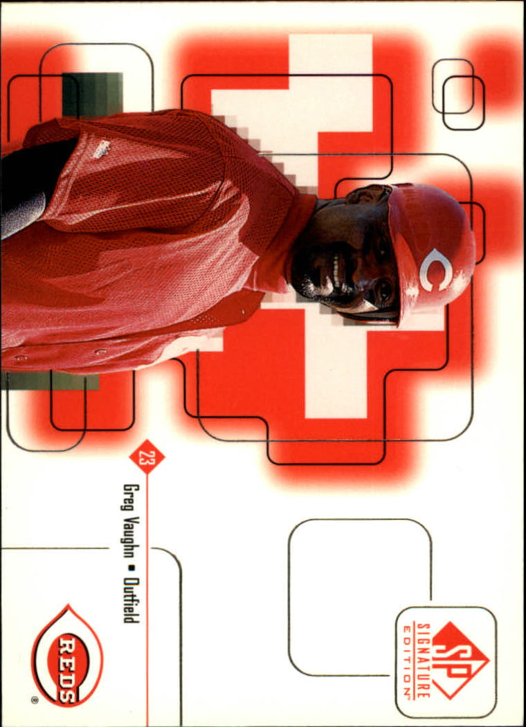 1999 SP Signature #17 Greg Vaughn